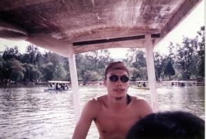Rowing in Burnham Lake with my nephews 1998