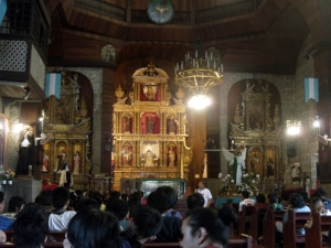 The altar of Saint James the Apostle Parish Church