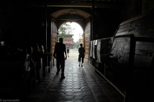 Walking the aisle of Saint James the Apostle Parish Church Photograph by Jaymee Castillo