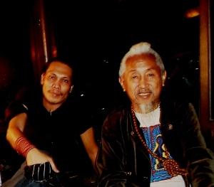 With Kidlat Tahimik (Silent Thunder)