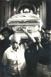My father joins other opposition leaders as a pallbearer for Gov. Evilio Javier's funeral