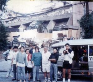 Inspecting the ruins of the Hyatt Regency Hotel, Baguio City