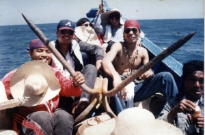 The long trips at sea could have gotten boring, if it wasn't for this rowdy bunch of men