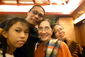 Celebrating with Tita Ligaya