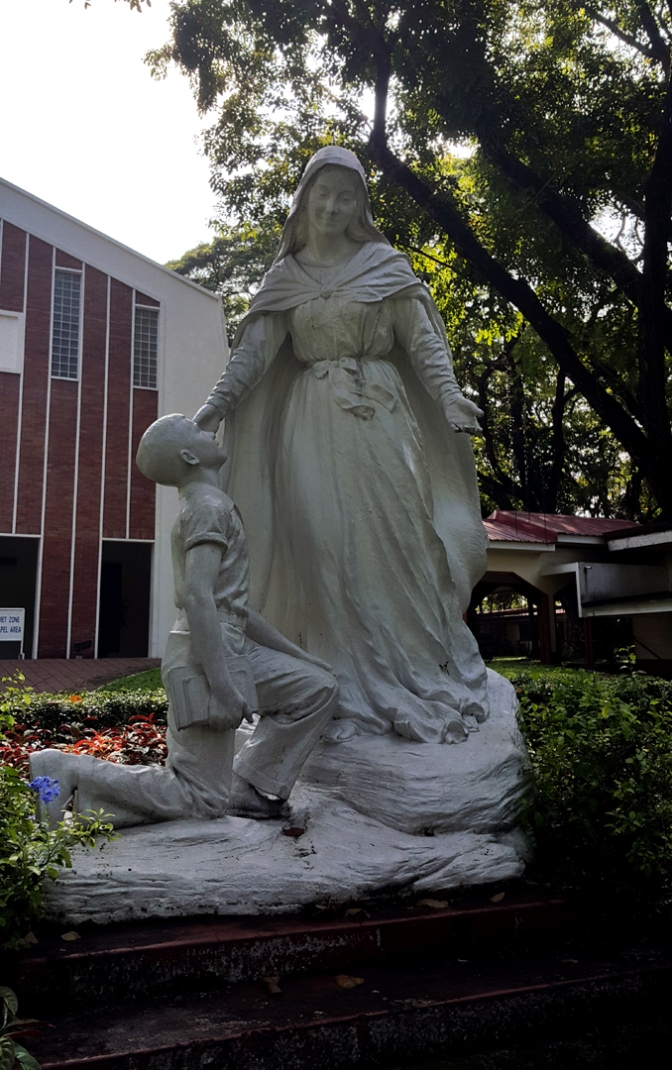 03 1957 Anastacio Caedo - Immaculate Concepcion with a Atenean Student 3.jpg