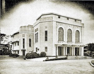 1932 The Auditorium of the Ateneo campus along Padre Faura street, Manila