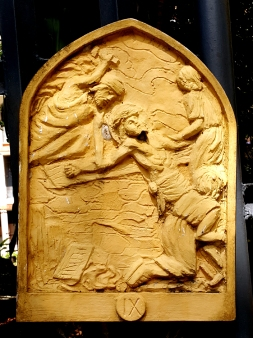 Loyola House of Studies, Stations of the Cross IX: Jesus is nailed to the Cross