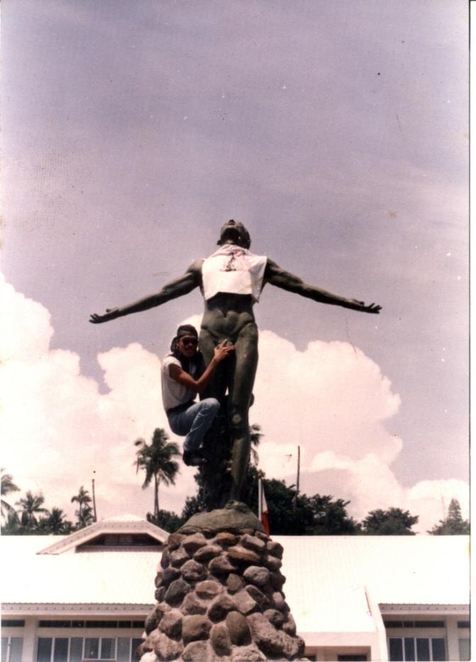 09 1989 Napoleon Abueva - Oblation, UP Iloilo-Miag-ao Cmpus