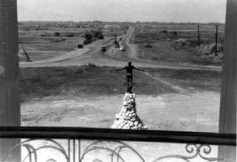 1955 UP Oblation facing the University Avenue