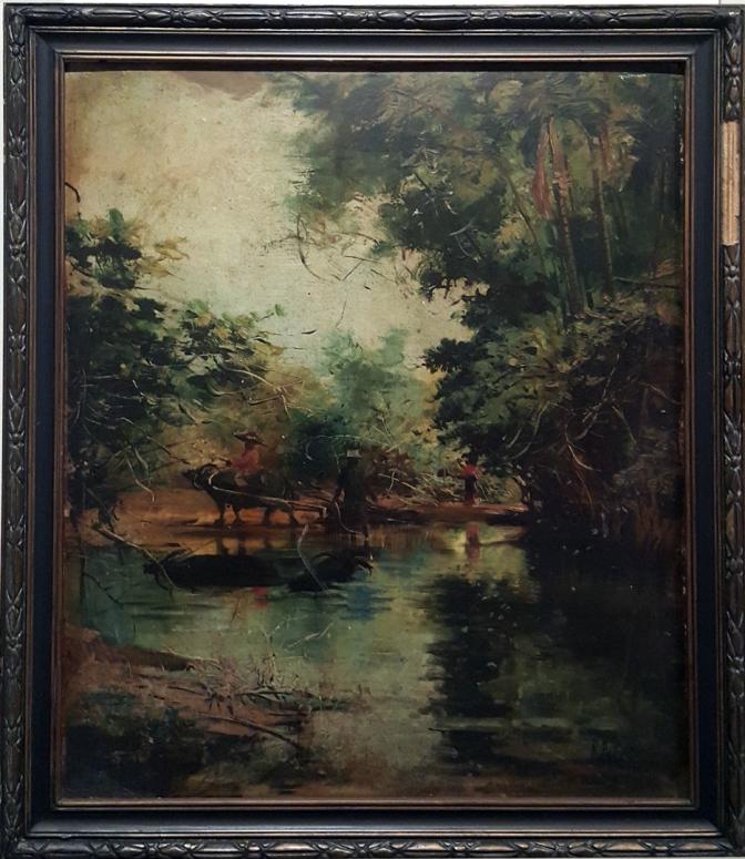 00 1904 Ramon Peralta - Pasig River Scene