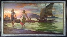 1942 Fernando Amorsolo - Fishing Scene
