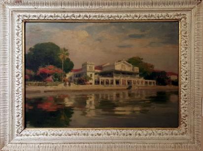 1948 Fernando Amorsolo - Malacañang by the River