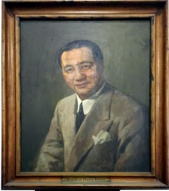 1953 Fernando Amorsolo - Pres. Elpidio Rivera Quirino (1890-1956)