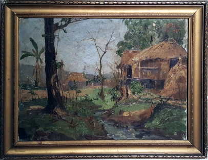 1933 Severino C. Fabie (1894-1950) - A House by the Brook in Ilocos Norte