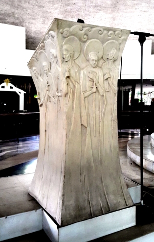 1955 Napoleon Abueva - Lectern of the Apostles, front and left side