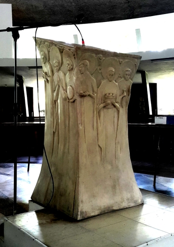 1955 Napoleon Abueva - Lectern of the Apostles, backand right side