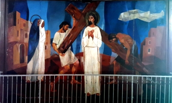 1955-56 Vicente Manansala & Ang Kuikok - Stations of the Cross II: Jesus carries his Cross