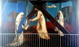 1955-56 Vicente Manansala & Ang Kuikok - Stations of the Cross IV: Jesus meets Mary