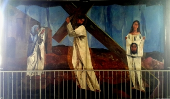 1955-56 Vicente Manansala & Ang Kuikok - Stations of the Cross VI: Veronica wipes the face of Jesus