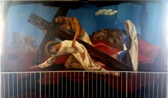 1955-56 Vicente Manansala & Ang Kuikok - Stations of the Cross VII: Jesus falls the second time