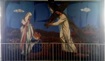 1955-56 Vicente Manansala & Ang Kuikok - Stations of the Cross VIII: Jesus meets the women of Jerusalem