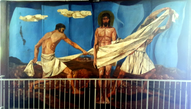 1955-56 Vicente Manansala & Ang Kuikok - Stations of the Cross X: Jesus is stripped of his Garments