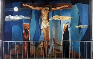 1955-56 Vicente Manansala & Ang Kuikok - Stations of the Cross XII: Jesus dies on the Cross