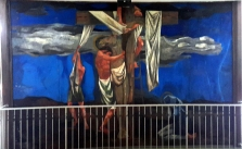 1955-56 Vicente Manansala & Ang Kuikok - Stations of the Cross XIII: Jesus is taken down from the Cross