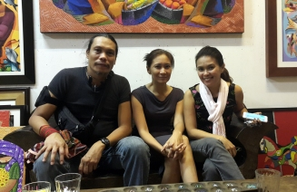 Hanging around the Art Circle Gallery Cafe with Kitten Chanco-Alcantara