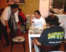 2010 At the Black Soup with film director Robert Quebral & all-around artist/legend Romeo Lee