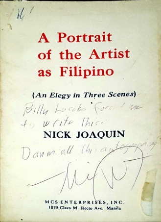 1966 Nick Joaquin - A Portrait of the Artist as Filipino