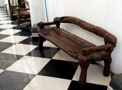 1994 Rey Paz Contreras - Wood Carved Benches
