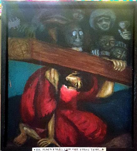 Sieger Köder - Jesus falls for the First Time