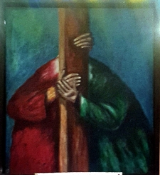 Sieger Köder - Jesus meets His Mother