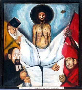 08j Sieger Köder - Jesus is stripped of His Garment