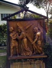 Garden of the Stations of the Cross: Jesus carries the Cross