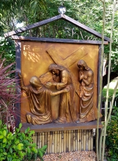 Garden of the Stations of the Cross: Jesus meets the Women of Jerusalem