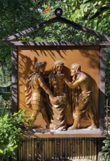 Garden of the Stations of the Cross: Jesus is stripped of His Clothes