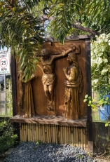 Garden of the Stations of the Cross: Jesus meets John and Mary