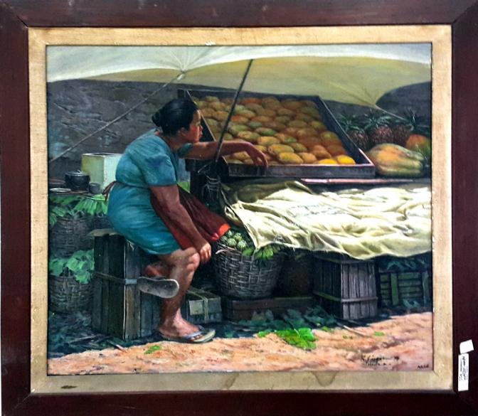 1979 Rey Garcia Zipagan - The Fruit Vendor