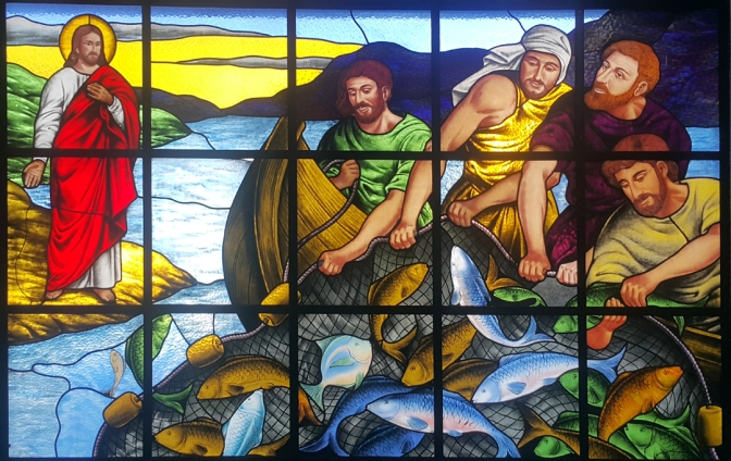 Narthex: Jesus and the Miraculous Catch of Fish (John 21