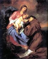 1629 Sir Anthony van Dyck (1599-1641), Visione. Antonio di Padova