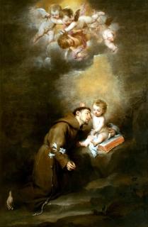 1668 Bartolomé Esteban Murillo (1617-1682) - San Antonio de Padua con el Niño