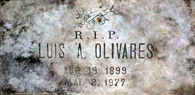 01 My grandfather's gravestone from the Holy Cross Memorial Park