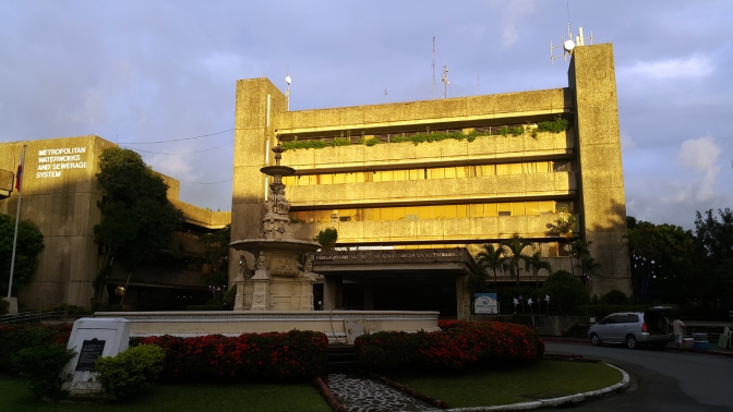 1980 MWSS Administration Building (by Arch. Gabriel Formoso) & Francisco Carriedo Fountain replica