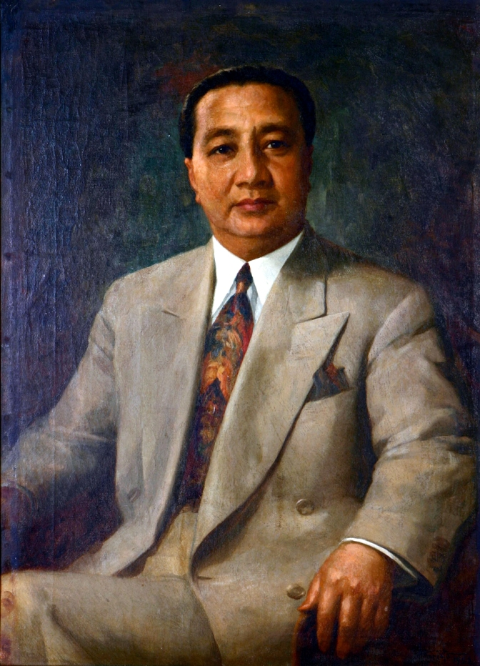 1952 Fernando Amorsolo - President Elpidio Quirino