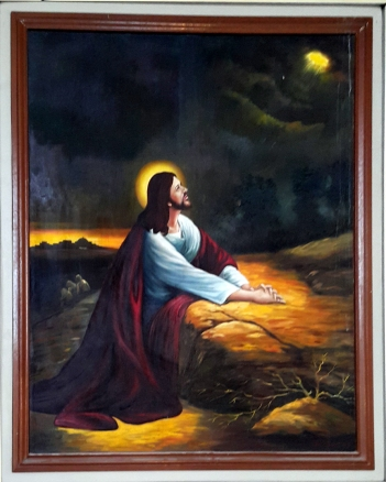 2003 Jessie C. Lores - Stations of the Cross II :Jesus' Agnoy at Gethsemane