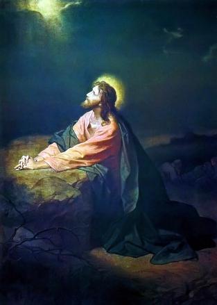 1890 Johann Michael Ferdinand Heinrich Hofmann (1824-1911) - Christ in Gethsemane