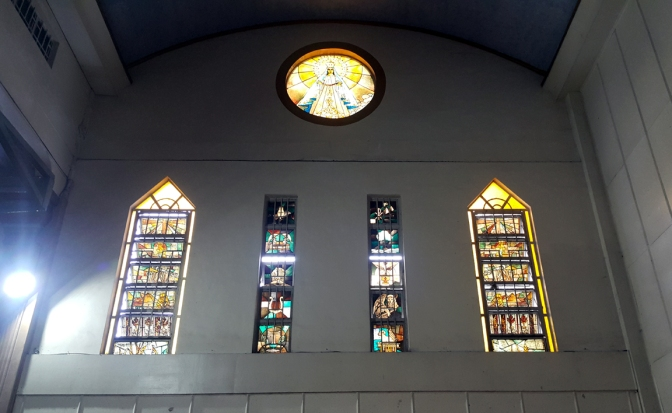 2001-2007 Diocesan Shrine of Our Lady of Mercy, Our Lady of Mercy Stained Glass