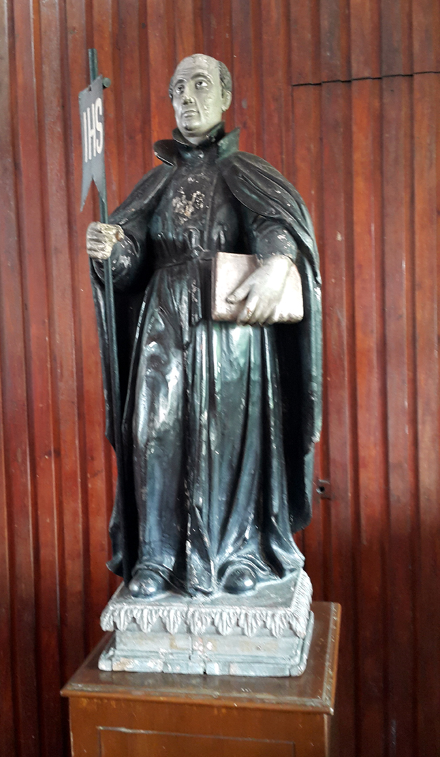 03B 1933 Sacred Heart Novitiate Chapel, 300 year old St. Ignatius